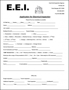Application Form | East End Inspection Agency